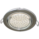 FC5310ECB Ecola GX53 H4 Downlight without reflector_chrome (светильник) 38x106 - 10 pack (кd102)