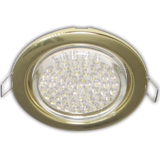 FG5310ECB Ecola GX53 H4 Downlight without reflector_gold (светильник) 38x106 - 10 pack (кd102)