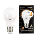102502110 Gauss Лампа LED A60 10W E27 880lm 2700K step dimmable 1/10/50